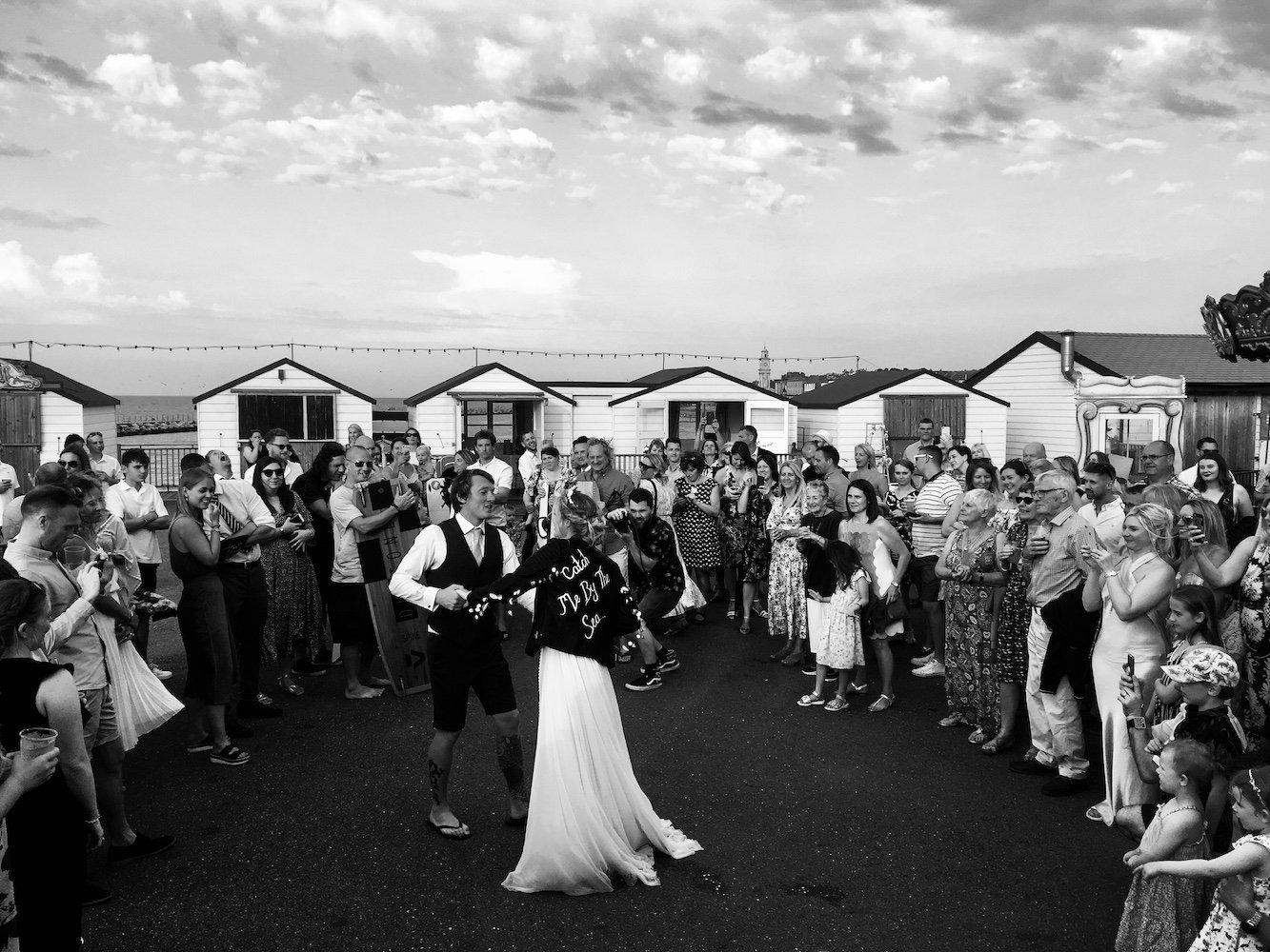 Cool Surfer Beach Hut Wedding