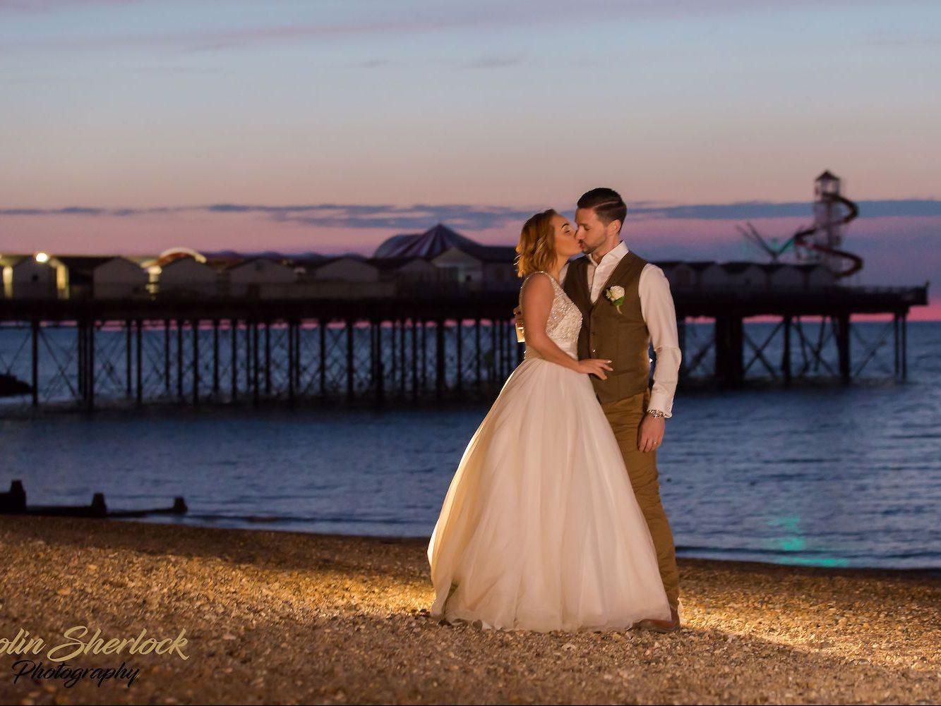 Beach Hut Weddings in Herne Bay